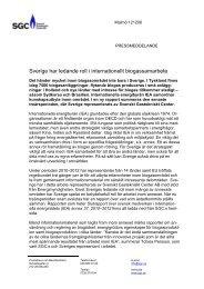 Sverige har ledande roll i internationellt biogassamarbete - SGC