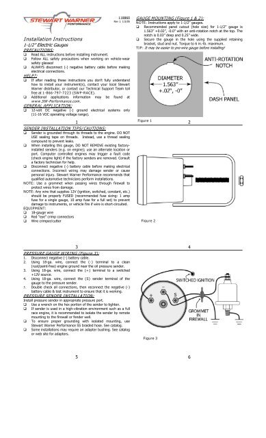 Stewart Warner Gauges Wiring Diagrams