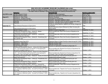 WSU 2012-2013 ACADEMIC DEADLINE CALENDAR (date order)