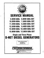 SERVICE MANUAL - Westerbeke