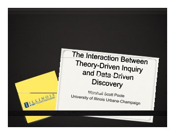 The Interaction Between Theory Building and Data-Driven Discovery