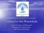 CLRMA Conference - Big Thompson Watershed Forum