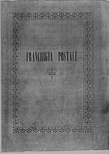 franchigie postali del Regno d'Italia - 1867 - Il postalista
