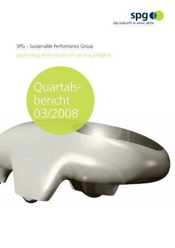 Bericht Drittes Quartal 2008 (PDF)