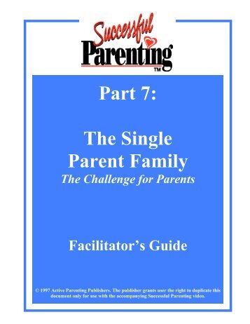Facilitator's Guide (download) - Active Parenting Publishers