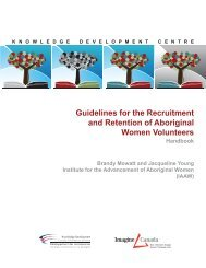 Guidelines for the Recruitment and Retention of ... - Imagine Canada