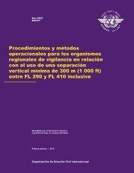 Procedimientos y métodos operacionales para los ... - ICAO