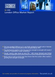 Central London Availability in sq. ft. by size - Focus