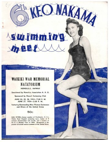 1954 Keo Nakama Invitational - Hawaii Swimming