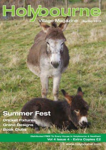 Holybourne Summer Fest... Sunday 7 July 2013