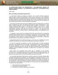 LA INTERACCIÓN ENTRE LOS PRONÓSTICOS ... - Mercosoja 2011