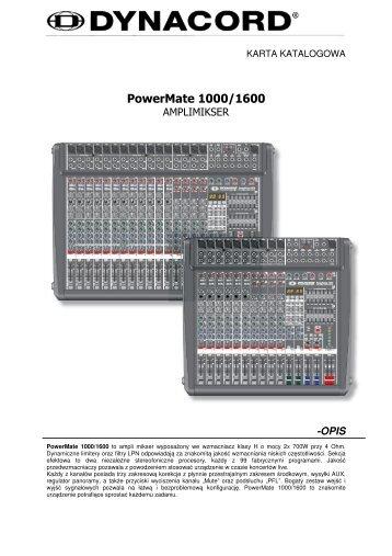 PowerMate 1000/1600