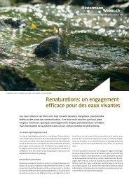 Renaturations: un engagement efficace pour des eaux vivantes