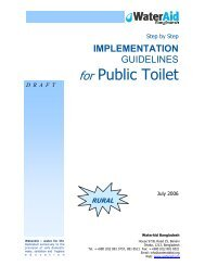 Public toilets guidelines (rural) - WaterAid