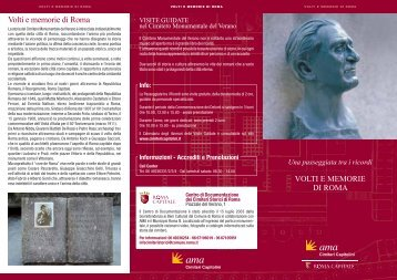 Volti e memorie di Roma - Turismo Roma