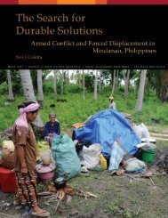 The Search for Durable Solutions - Armed Conflict and Forced ...