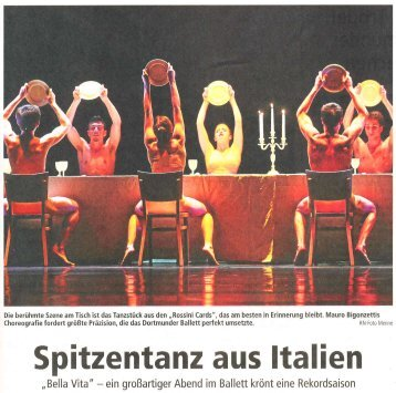 Spitzenta nz aus ltalien - ballet meets business