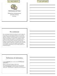 Manuale di Base per la Patente Europea del ... - Territorio Scuola
