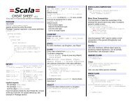 =Scala= - Cheat Sheet