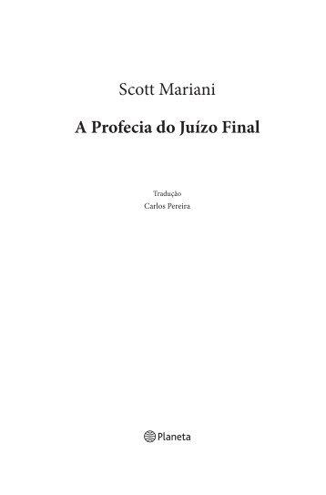 Scott Mariani A Profecia do Juízo Final - Planeta