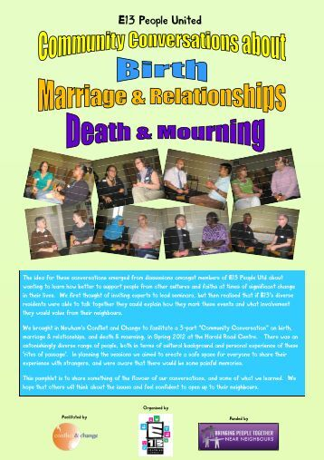'Birth, Marriage & Death' conversations - E13 Learning Community