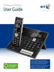 BT Diverse 7460 Plus User Guide - PMC Telecom