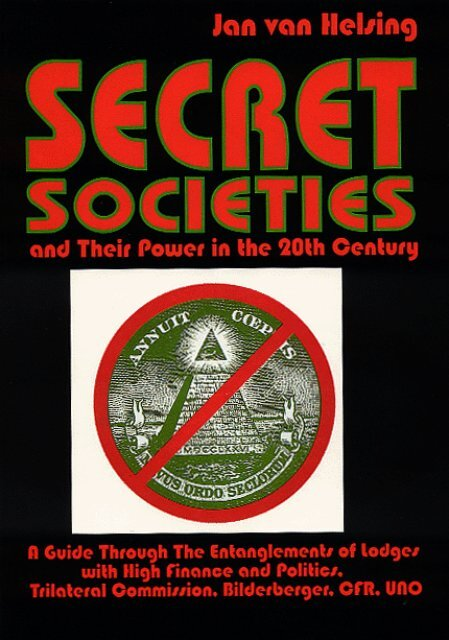 Secret Societies and Their Power in the 20th Century 1995 pdf