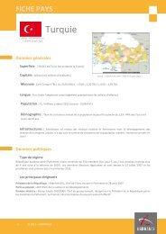 Fiches pays Turquie, 2012 - Veille info tourisme