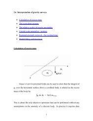 2.6 Interpretation of gravity surveys - The Berkeley Course in ...