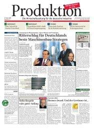Ritterschlag für Deutschlands beste Maschinenbau ... - Produktion.de