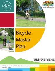 Bicycle Master Plan - City of Kamloops