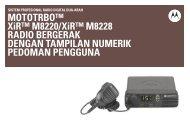 MOTOTRBO XiR M8220/XiR M8228 Radio Bergerak Dengan ...