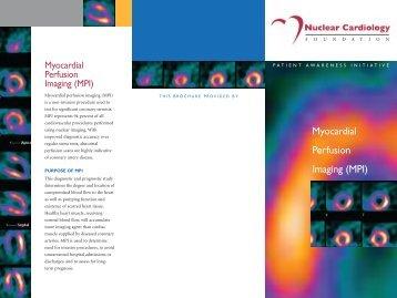 Myocardial Perfusion Imaging Brochure - American Society of ...