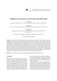 Map-Based Model - Systems Neurobiology Laboratory