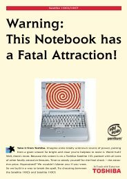 Warning: This Notebook has a Fatal Attraction! - Toshiba