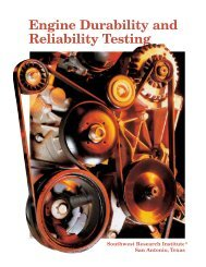 Engine Durability and Reliability Testing - Southwest Research ...