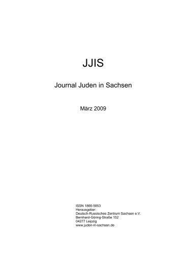 Journal Juden in Sachsen - Ausgabe vom März 2009