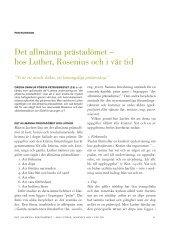 Det allmänna prästadömet – hos Luther, Rosenius och i vår tid - Till Liv
