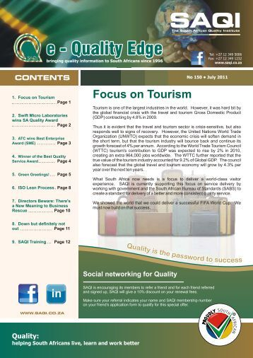 SAQI eQE Newsletter July 2011 - Issue 150 (140711).cdr
