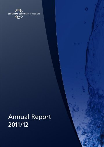 Annual Report 2011/12 - Essential Services Commission