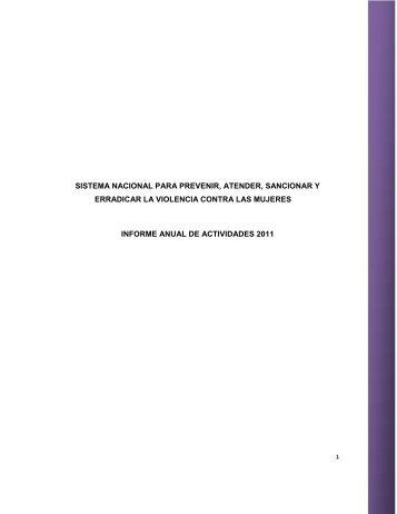 sistema nacional para prevenir, atender, sancionar y ... - CONAVIM