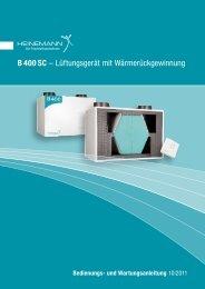 B 400 SC - Heinemann GmbH