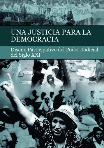 Una justicia para la democracia - Centro de Estudios Judiciales