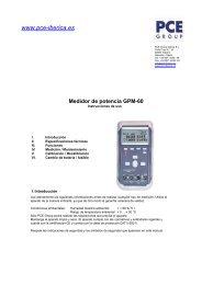 Medidor de potencia GPM-60 - PCE Ibérica