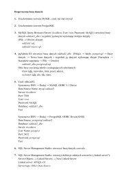 Rozproszona baza danych - zadania (zestaw 1)