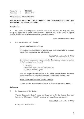 Exemption List - General Insurance Association Of Singapore