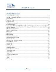 ISES CWCS Data Elements - Printer Friendly Version (PDF Format)
