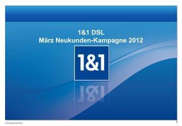 1&1 DSL im März 2012