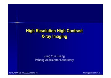 High Resolution High Contrast X-ray Imaging