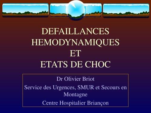Etat de Choc, Dr Briot - Association Nationale des Médecins du ...